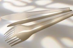 πλαστικό μαχαιριών δικράνων Στοκ Εικόνα