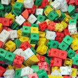 πλαστικό παιχνίδι τούβλων Στοκ Φωτογραφίες