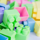 πλαστικό παιχνίδι τούβλων Στοκ Φωτογραφία