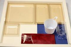 πλαστικό πιάτων τομέα εστιά& στοκ φωτογραφία