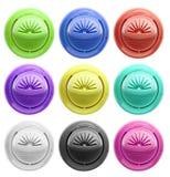 πλαστικό σύνολο 7 κουμπιώ&nu Στοκ Εικόνα