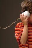 πλαστικό τηλέφωνο φλυτζ&alpha Στοκ Εικόνες