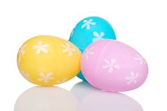 πλαστικό τρία αυγών Πάσχας &ep Στοκ εικόνα με δικαίωμα ελεύθερης χρήσης