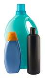 πλαστικό τρία μπουκαλιών Στοκ φωτογραφίες με δικαίωμα ελεύθερης χρήσης