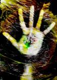 πλαστικό χεριών τσαντών Στοκ Φωτογραφία