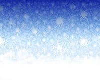 πλαστό χιόνι ανασκόπησης Στοκ Εικόνες