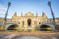 Πλατεία ή Plaza de Espana, Σεβίλη, Ανδαλουσία, Ισπανία της Ισπανίας Στοκ φωτογραφία με δικαίωμα ελεύθερης χρήσης
