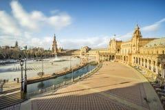 Πλατεία ή Plaza de Espana, Σεβίλη, Ανδαλουσία, Ισπανία της Ισπανίας Στοκ Εικόνα