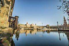 Πλατεία ή Plaza de Espana, Σεβίλη, Ανδαλουσία, Ισπανία της Ισπανίας Στοκ εικόνα με δικαίωμα ελεύθερης χρήσης