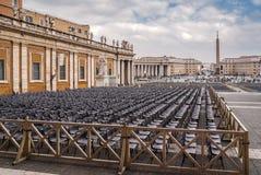 Πλατεία Αγίου Peter ` s στη Ρώμη Στοκ Εικόνες