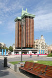 πλατεία δύο του Columbus Μαδρίτη &k Στοκ φωτογραφία με δικαίωμα ελεύθερης χρήσης