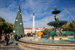 Πλατεία και θέατρο της ΛΙΣΣΑΒΩΝΑΣ Rossio στοκ εικόνες
