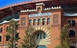 Πλατεία της Βαρκελώνης Plaza de Espana Ισπανία - είσοδος χώρων Στοκ φωτογραφίες με δικαίωμα ελεύθερης χρήσης