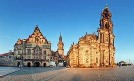 Πλατεία της Δρέσδης, Γερμανία, Hofkirche Στοκ Φωτογραφία
