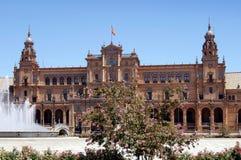Πλατεία της Ισπανίας, Σεβίλη, Ισπανία Στοκ φωτογραφία με δικαίωμα ελεύθερης χρήσης