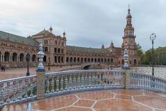 Πλατεία της Ισπανίας, Σεβίλη Στοκ Εικόνες