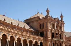 Πλατεία της Ισπανίας, Σεβίλη Στοκ φωτογραφία με δικαίωμα ελεύθερης χρήσης