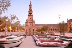 Πλατεία της Ισπανίας, Σεβίλλη - Ισπανία Στοκ εικόνα με δικαίωμα ελεύθερης χρήσης