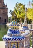 Πλατεία της Ισπανίας, Σεβίλλη, Ισπανία Στοκ φωτογραφία με δικαίωμα ελεύθερης χρήσης