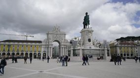 πλατεία της Λισσαβώνας &epsilo απόθεμα βίντεο