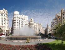 Πλατεία της πόλης Plaza del Ayuntamiento στη Βαλένθια, Ισπανία Στοκ φωτογραφία με δικαίωμα ελεύθερης χρήσης