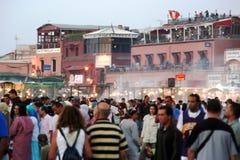 πλατεία του Μαρακές fnaa βρα& στοκ φωτογραφίες