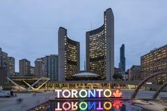 Πλατεία του Nathan Phillips στο Τορόντο, Καναδάς Στοκ φωτογραφία με δικαίωμα ελεύθερης χρήσης