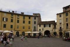 Πλατεία Anfiteatro πλατειών Lucca Στοκ Φωτογραφία