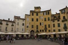 Πλατεία Anfiteatro πλατειών Lucca Στοκ Εικόνες