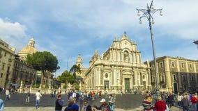 Πλατεία Duomo και καθεδρικός ναός Santa Agatha, Κατάνια, Ιταλία φιλμ μικρού μήκους