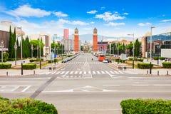 Πλατεία Espanya Placa στη Βαρκελώνη Στοκ Εικόνα