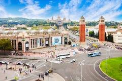 Πλατεία Espanya Placa στη Βαρκελώνη Στοκ φωτογραφία με δικαίωμα ελεύθερης χρήσης