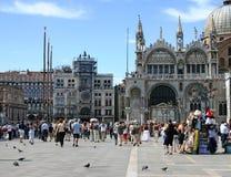 πλατεία SAN Βενετία marco Στοκ Φωτογραφίες
