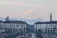 Πλατεία Vittorio Βένετο στοκ εικόνες