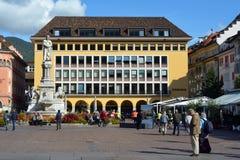Πλατεία Walther στο Μπολτζάνο - την Ιταλία Στοκ φωτογραφίες με δικαίωμα ελεύθερης χρήσης