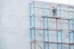Πλατφόρμα για την κατασκευή με το εργατικό δυναμικό Στοκ Φωτογραφίες