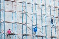 Πλατφόρμα για την κατασκευή με το εργατικό δυναμικό Στοκ Εικόνες