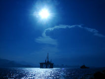 πλατφόρμα πετρελαίου Στοκ Εικόνα