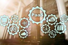 Πλατφόρμα ως υπηρεσία PaaS - έννοια υπηρεσιών υπολογισμού σύννεφων Υπόβαθρο δωματίων κεντρικών υπολογιστών ελεύθερη απεικόνιση δικαιώματος