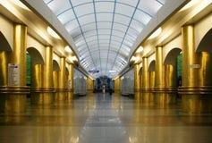 Πλατφόρμα Mezhdunarodnaya σταθμών μετρό Στοκ εικόνες με δικαίωμα ελεύθερης χρήσης
