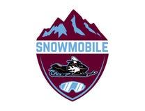 Πλαϊνή ακραία περιπέτεια Πρότυπο εμβλημάτων με το όχημα για το χιόνι Στοιχείο σχεδίου για το λογότυπο, ετικέτα, έμβλημα, σημάδι Στοκ εικόνες με δικαίωμα ελεύθερης χρήσης