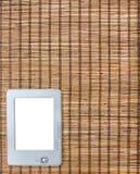 Πλεγμένο κίτρινο καφετί υπόβαθρο του αχύρου eBook στοκ εικόνες