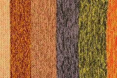 Πλεγμένο πολύχρωμο ριγωτό ύφασμα Στοκ φωτογραφία με δικαίωμα ελεύθερης χρήσης