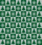 Πλεκτά Χριστούγεννα και νέο σχέδιο έτους Στοκ εικόνα με δικαίωμα ελεύθερης χρήσης