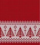 Πλεκτά Χριστούγεννα και νέο σχέδιο έτους Στοκ φωτογραφία με δικαίωμα ελεύθερης χρήσης