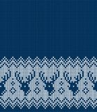 Πλεκτά Χριστούγεννα και νέο σχέδιο έτους Στοκ Εικόνες