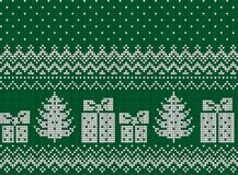 Πλεκτά Χριστούγεννα και νέο σχέδιο έτους απεικόνιση αποθεμάτων