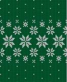 Πλεκτά Χριστούγεννα και νέο ύφος σχεδίων έτους Σκανδιναβικό, απεικόνιση στοκ φωτογραφία