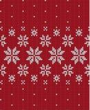 Πλεκτά Χριστούγεννα και νέο ύφος σχεδίων έτους Σκανδιναβικό, απεικόνιση στοκ εικόνα