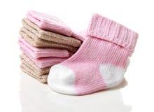 πλεκτές παιδιά κάλτσες Στοκ Φωτογραφίες